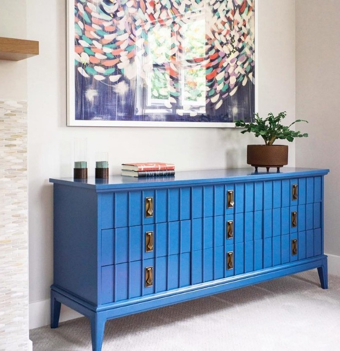 Custom dresser for client's living room.   Interior Design:    Urbanism Designs    • Photography:    Jessica Make Studio