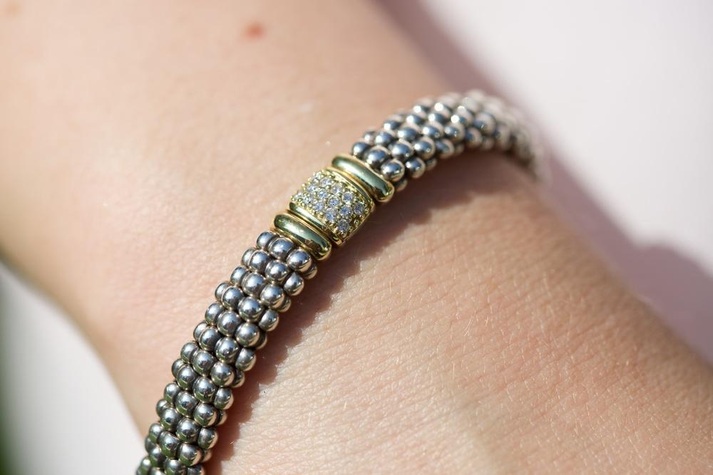 Lagos Diamonds & Caviar Bracelet