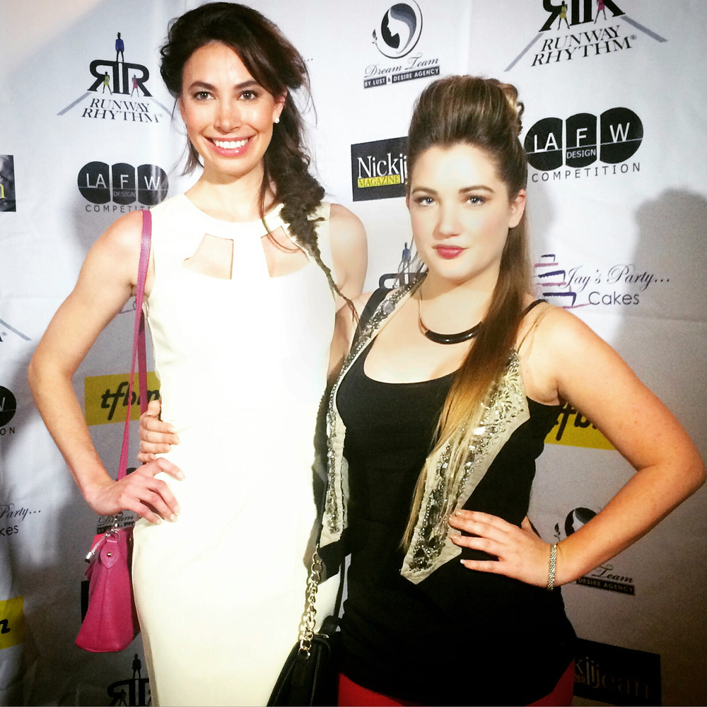 Ashley Reinke and Shelley Buckner at The Nickii Jean Magazine LAFW Circus Couture Show
