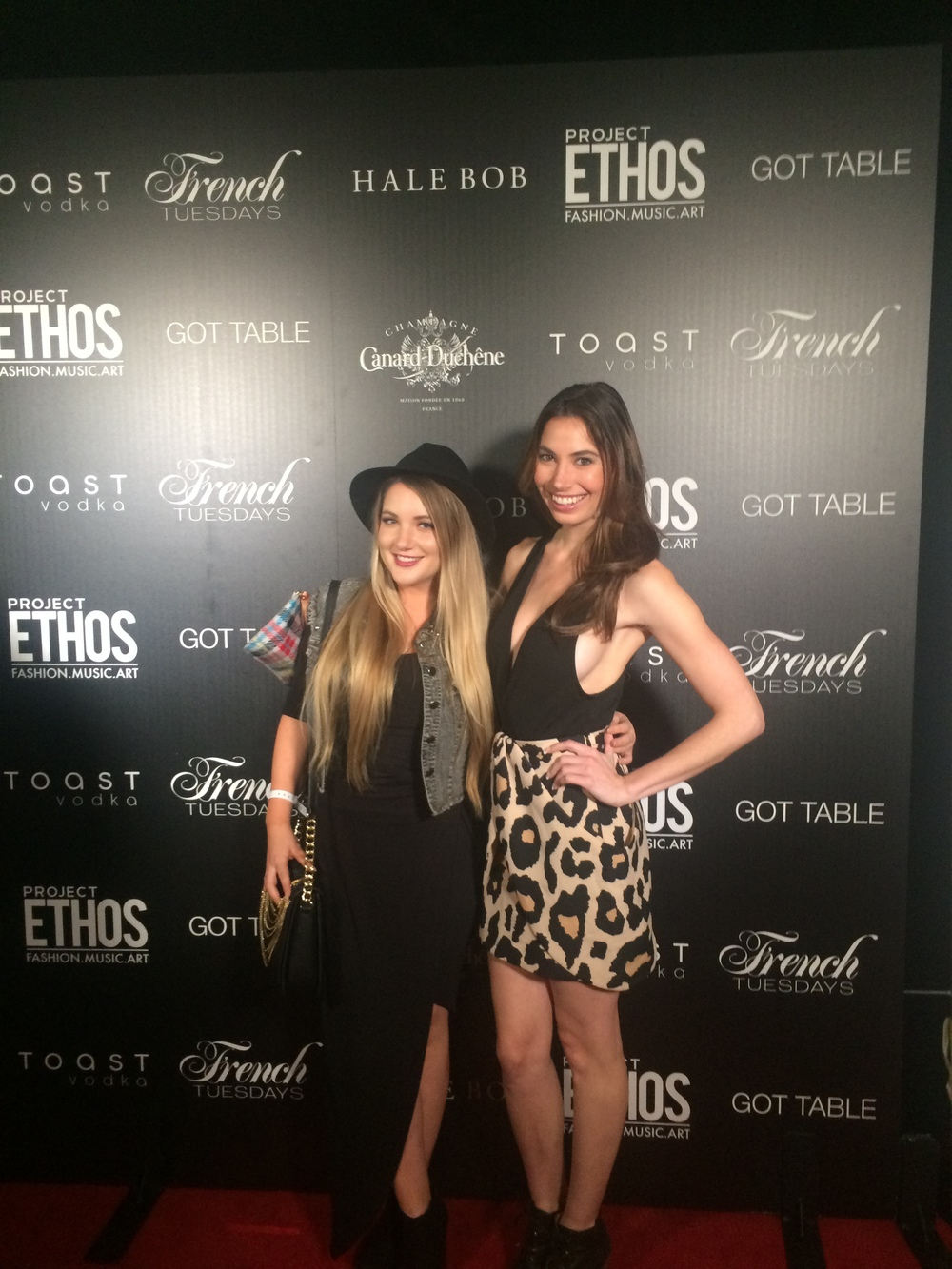 Ashley Reinke and Shelley Buckner at The Project Ethos LAFW Show.