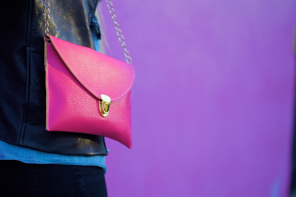 Pink Envelope Style Purse
