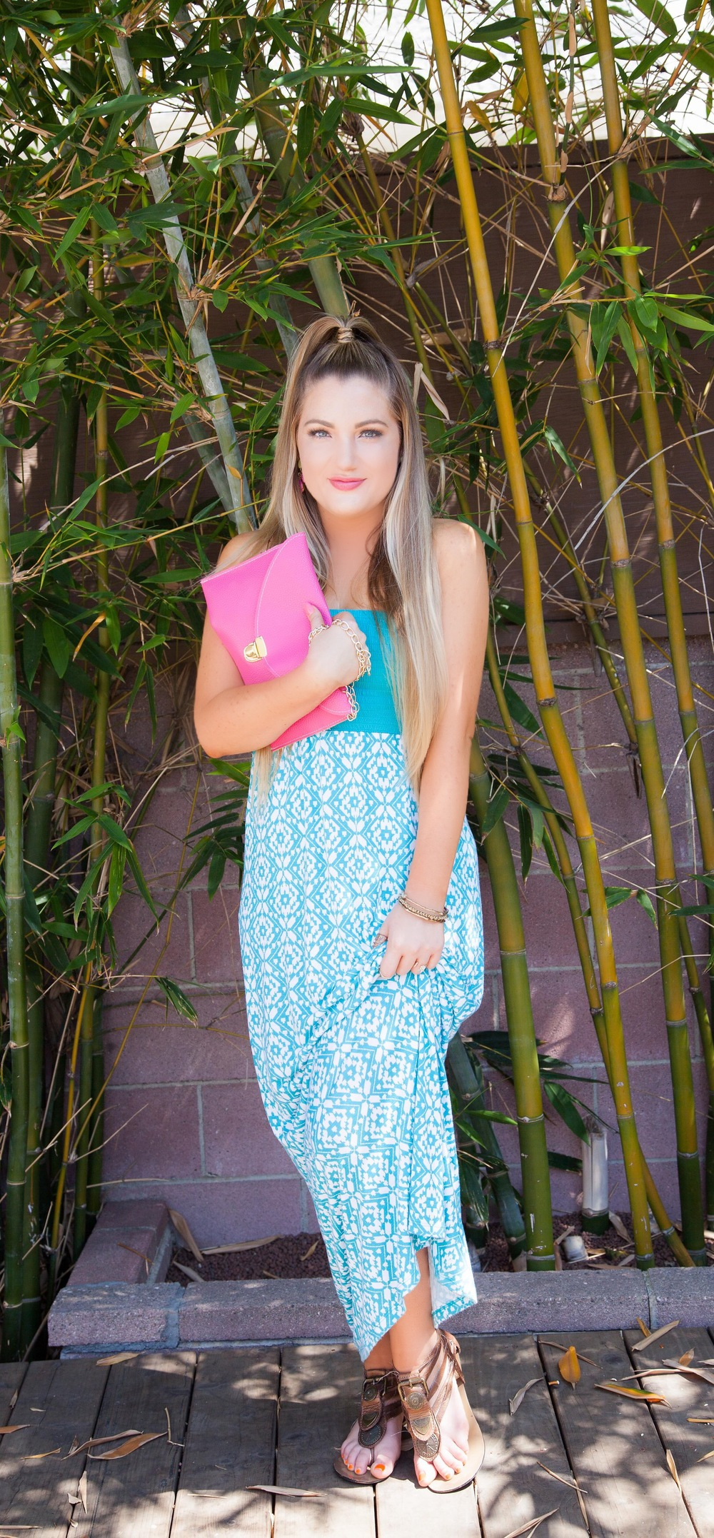 pink envelope purse