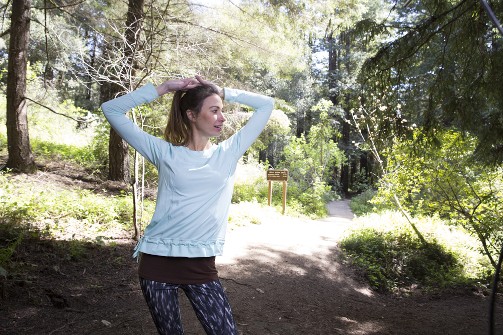Lucy Joy for Joy Long Sleeve & Lululemon Oil Stick Leggings
