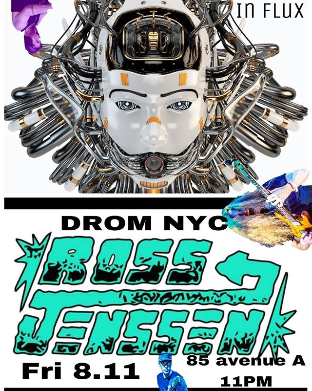 Tomorrow night: we're back in #NYC with @influxmusic at @dromnyc. 85 avenue A. 11pm.  This is the last day to get cheap advance tickets too. DM for details.  #heavyfuturegroove #livemusic #newyork