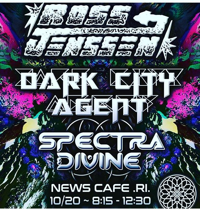 Friday night in #providence #rhodeisland at News Cafe with @darkcityagent and @spectradivine.  #heavyfuturegroove