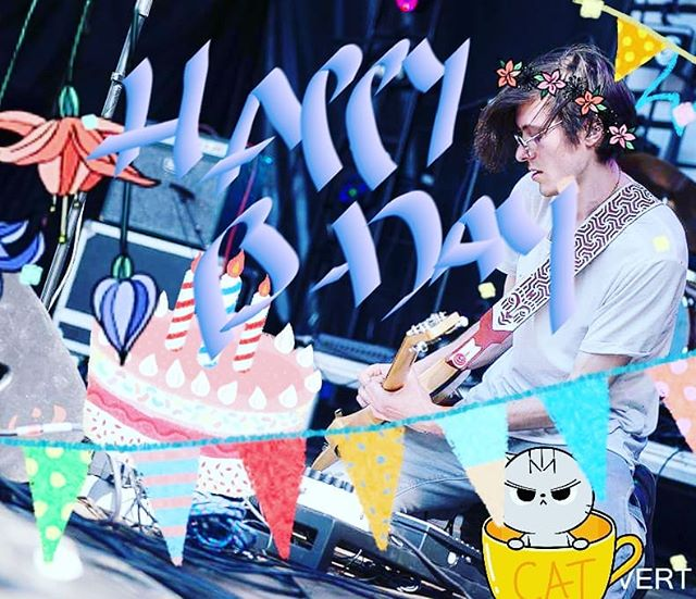 Happy Birthday to our guitar playing cat loving hippie hobo WP. He's not a rockstar anymore 😉😎🤘 #rockstarage #survivor #happy #birthday #happybirthday #guitar #player #cat #catlovers #hippie #hobo #catinacup #confetti #wow #cake #party #newshoes