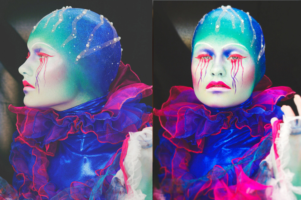 An example of the beautiful makeup that you might see. This is from the student beauty/fantasy competition at IMATS New York in 2012