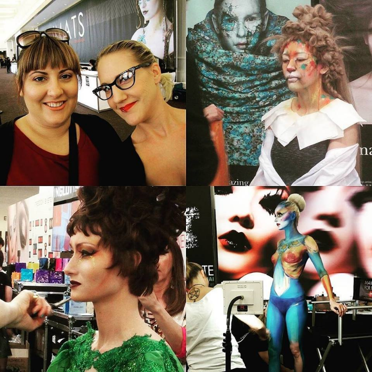 Shannon and myself, and demos from Amazing Jiro, Inglot, and Make Up For Ever