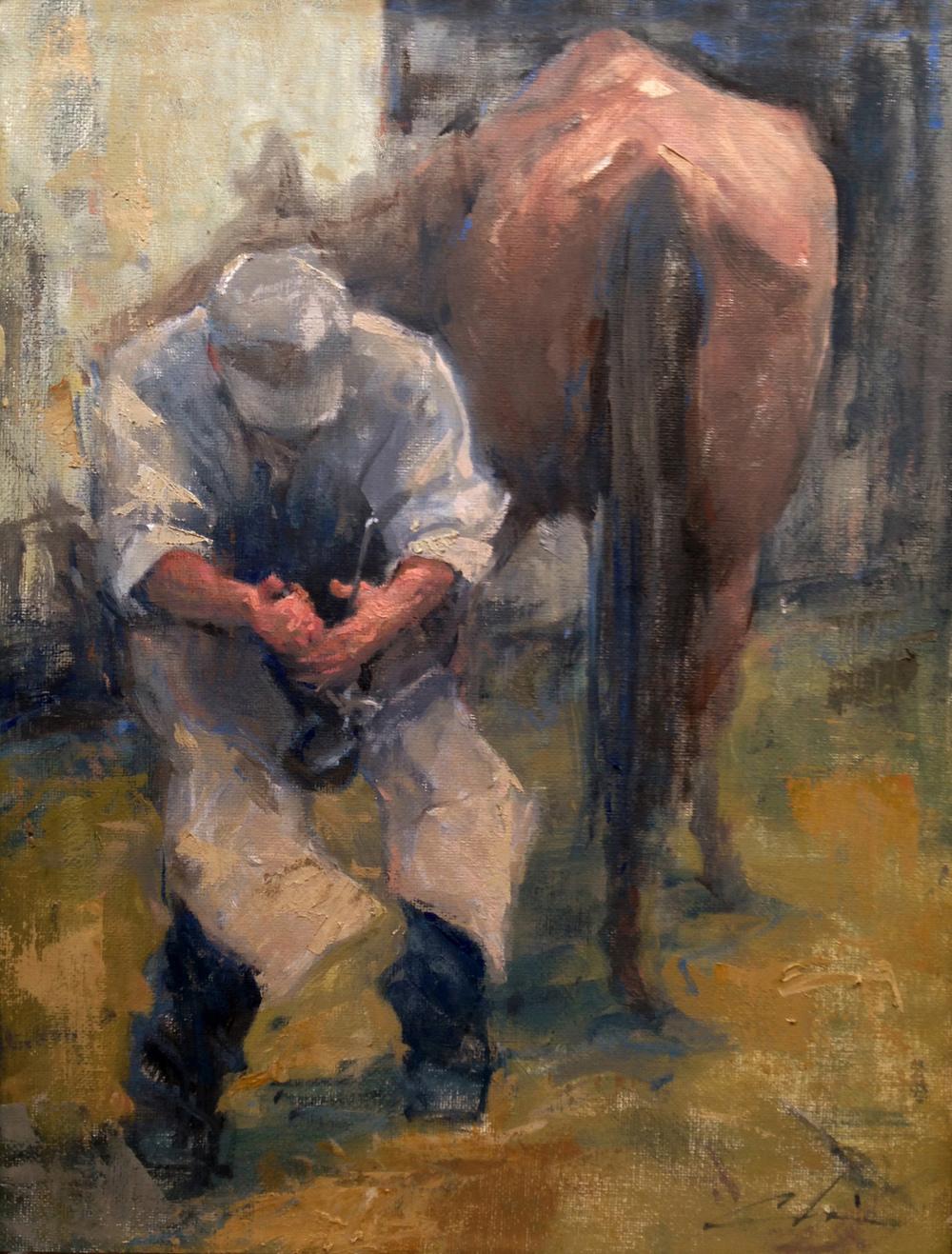 The Farrier, Oils 11 x 14