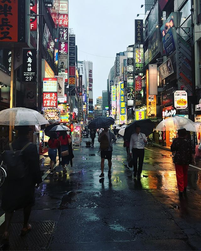 #Shinjuku lights.  #tokyo #rainseason