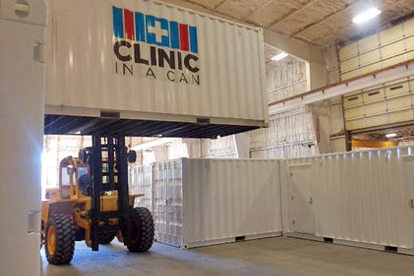 Clinic In A Can manufacturing facility in Conway Springs, Kansas