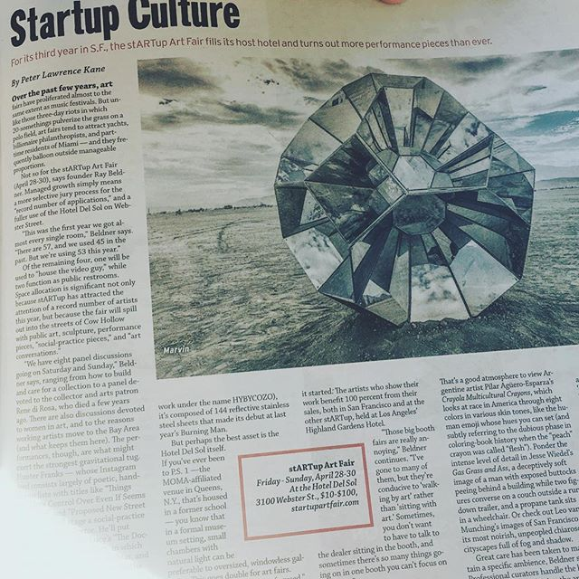 So much love for Peter Kane's SF Weekly piece on our client --@startupartfair -- a group of people who really work their ass off to give exhibition and sales opportunities for artists who need and deserve them. 💖