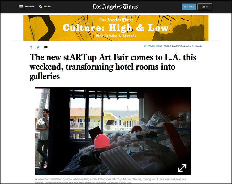 The Los Angeles Times - Article on new art Los Angeles fair