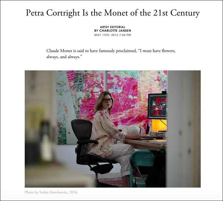 Artsy - press coverage for Petra Cortright
