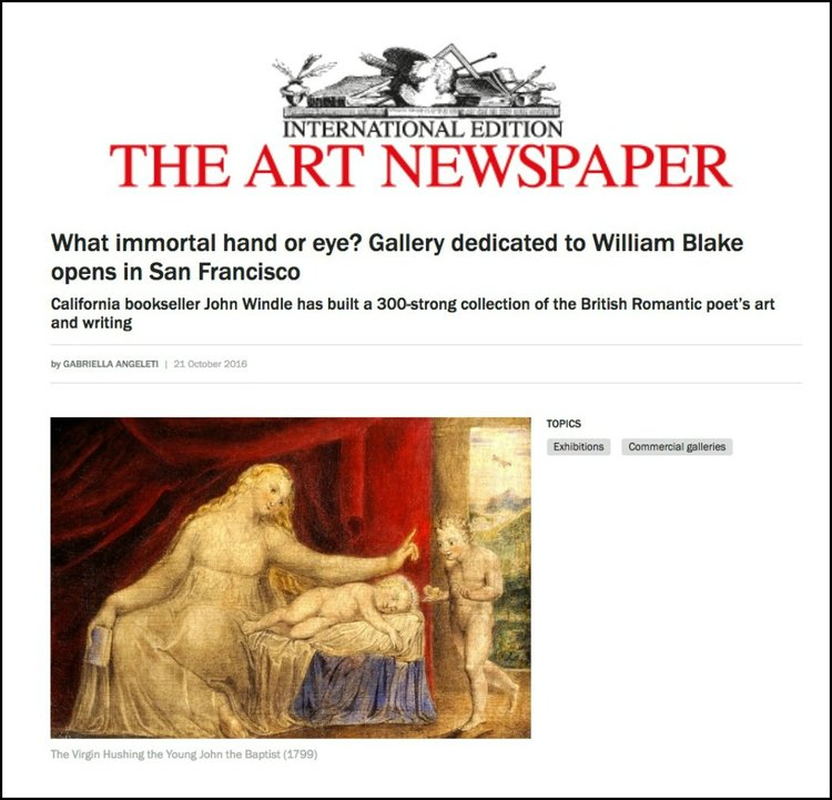 The Art Newspaper: art news coverage for The William Blake Gallery new gallery opening