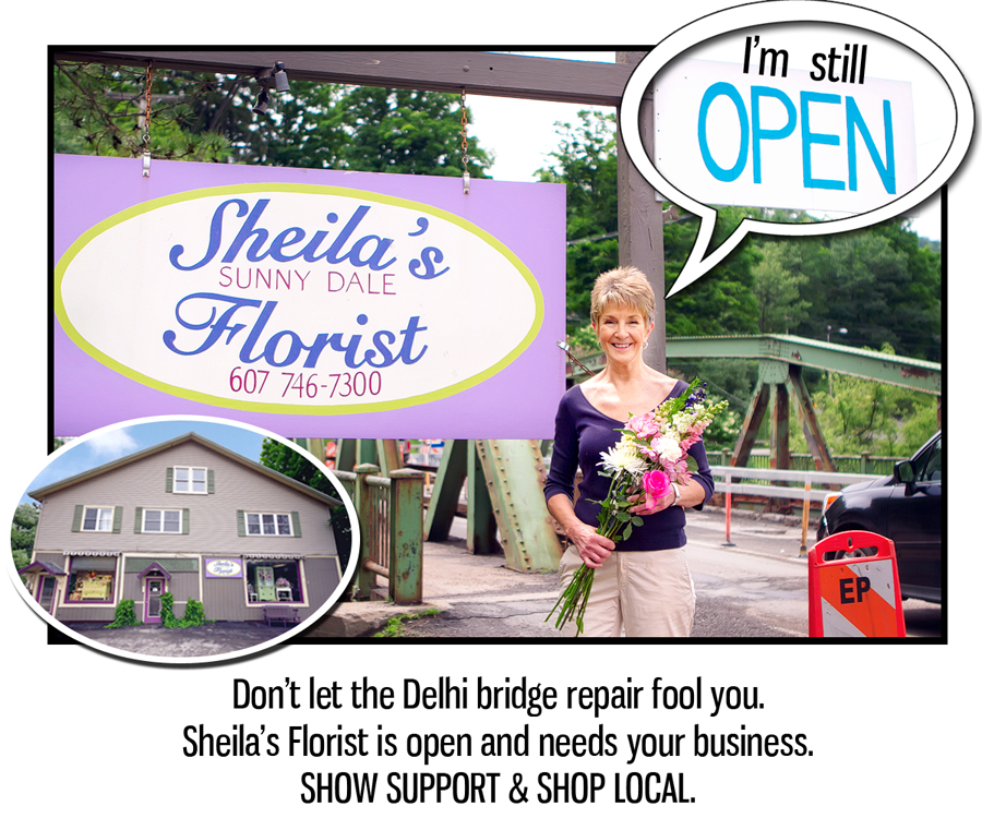 When we heard about the impact the bridge repair was having on the business, the Chamber quickly rallied to produce a graphic to share through social media alerting people that Sheila's Sunny Dale Florist was still open for business.