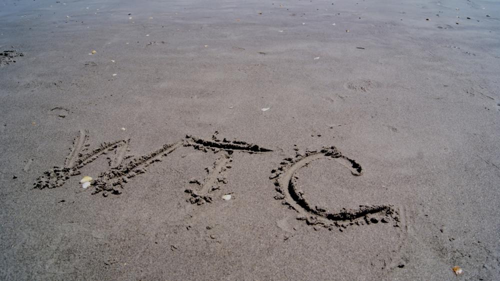 sandy beach initials