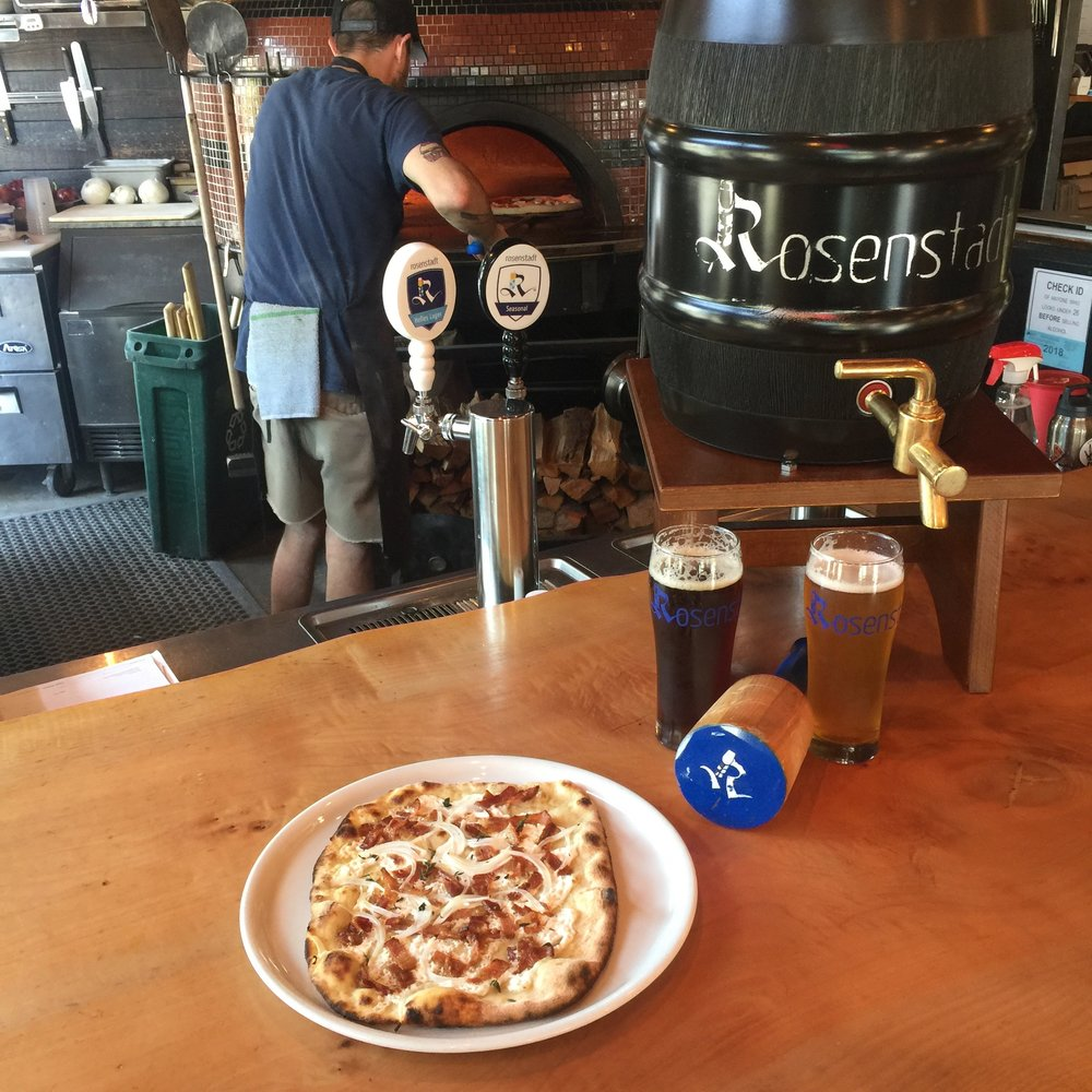 Pizzeria Otto will be serving five   Rosenstadt beers, including two new releases - Dunkel (Dark Lager) and Fünf Null Drei (German IPA), and on Friday June 8, will  tap a special Anstich (gravity pour) barrel of Rosenstadt Kölsch.    Pizzeria Otto is offering daily specials, including Rosenstadt-inspired flammkuchen.  Flammkuchen (aka Tarte flambée)is indigenous to southern Germany; a very thin flatbread, covered with a number of toppings, typically onions, cream, and bacon lardons - perfect with an icy brew.      Rosenstadt is incredibly proud to be a featured purveyor/partner of Pizzeria Otto. Pizzeria Otto was the first repeat customer of Rosenstadt and we have been on tap since our first delivery in September 2015.      Hope to see you during beer week. Prost!