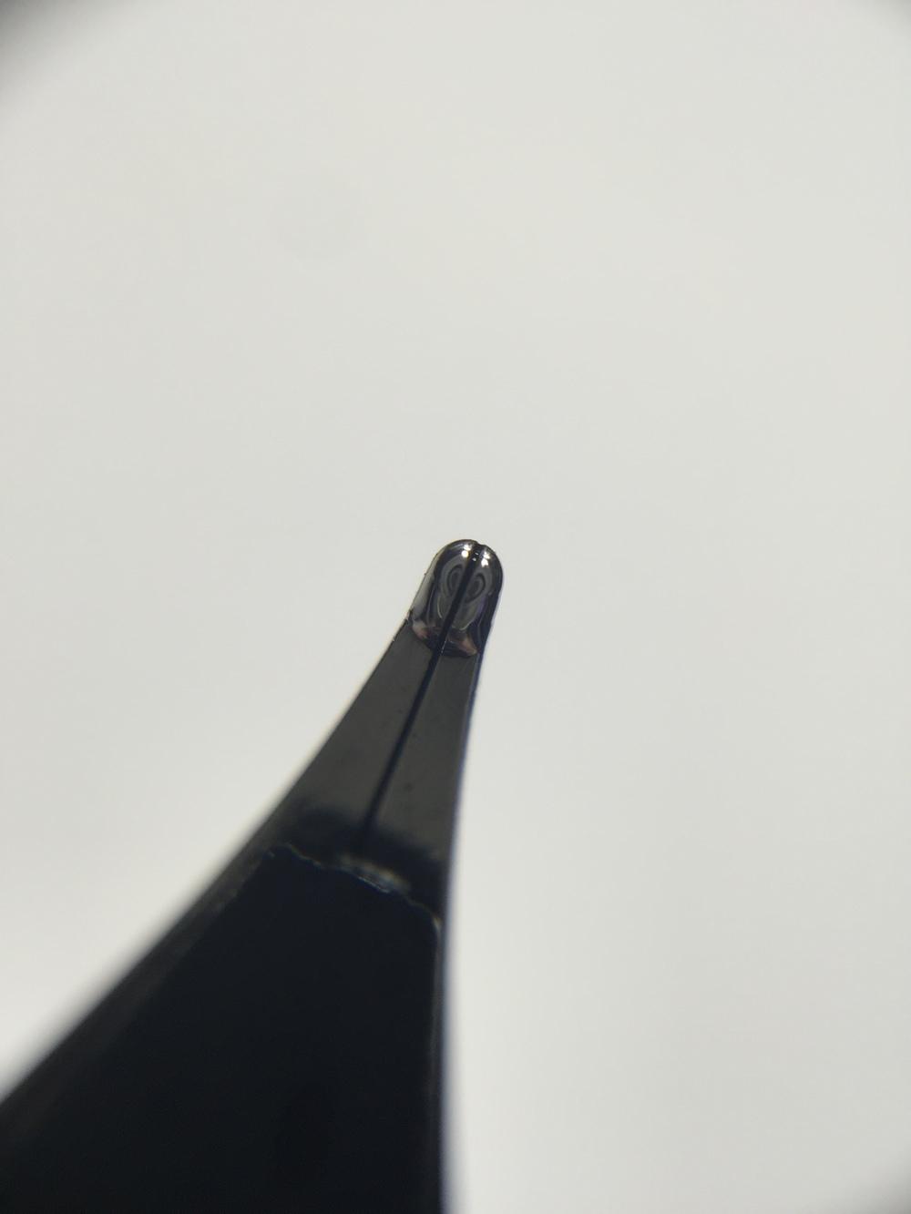 Underside of the nib