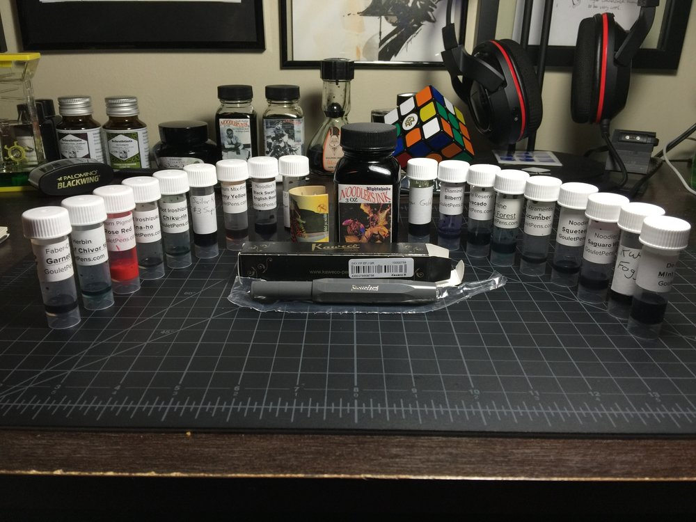Other ink bottles not listed below, and various desk accessories not included