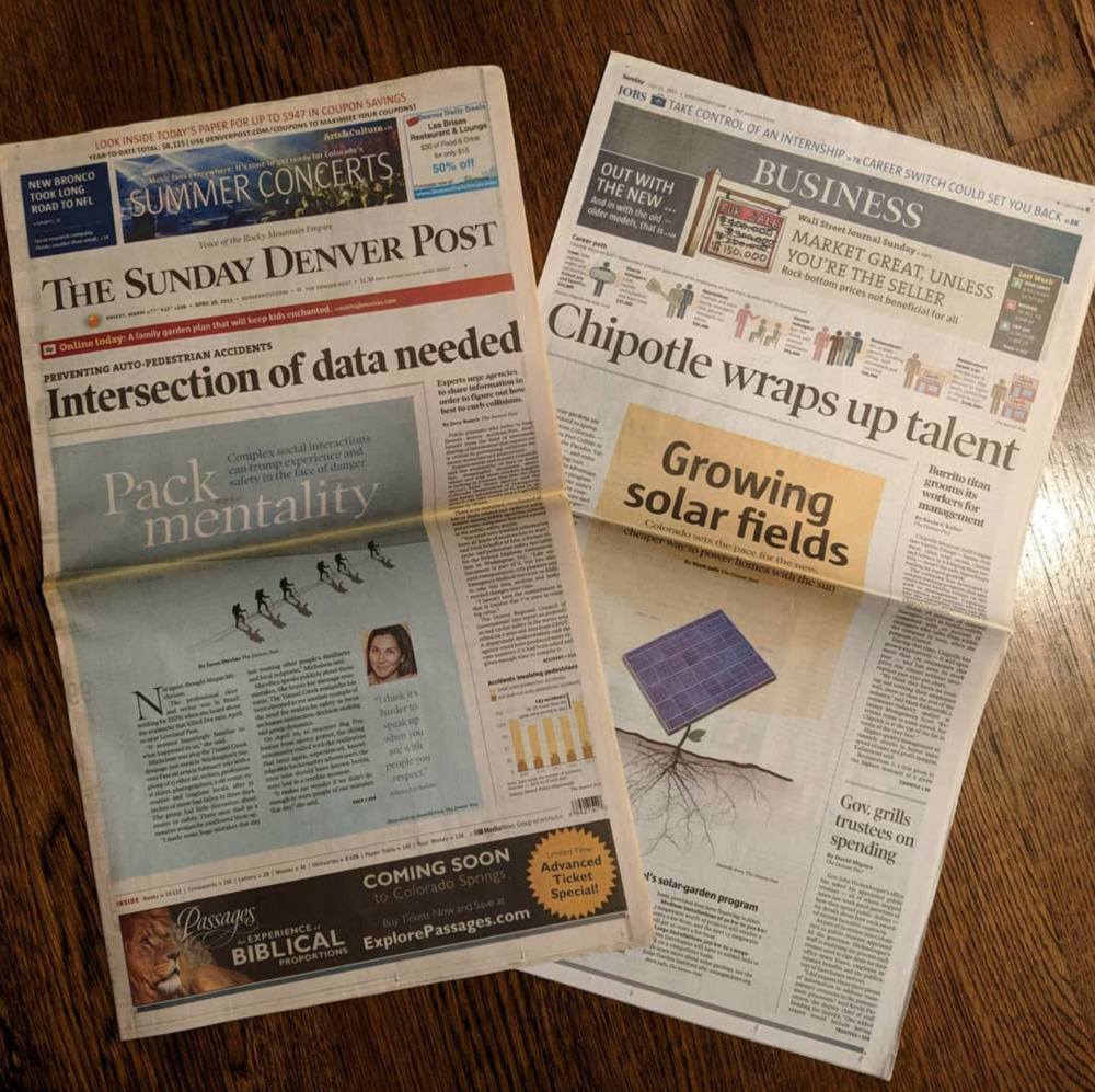I keep a stack of papers from my days in the newspaper world. It was such a bittersweet decision to switch industries, but I've been able to repurpose all of my journalistic skills and ethics with my transition into UX design.