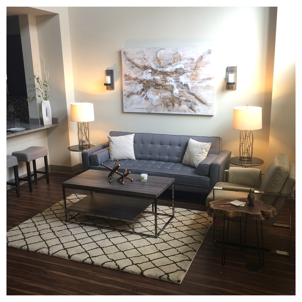 Final design of the loft living room