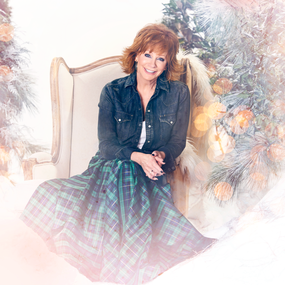 Reba McEntire shot by Cameron Powell   ADR set design for my kind of christmas album