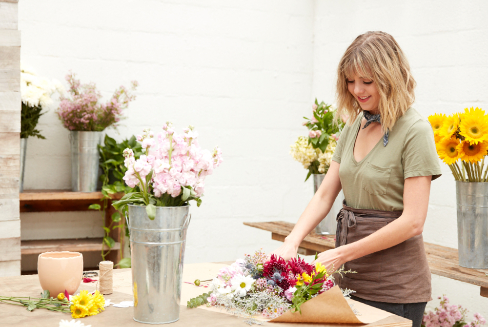 Mattie Bush of Amelia's Flower Truck  shot by Attilio D'Agostino  ADR set design for Dr. Scholl's campaign