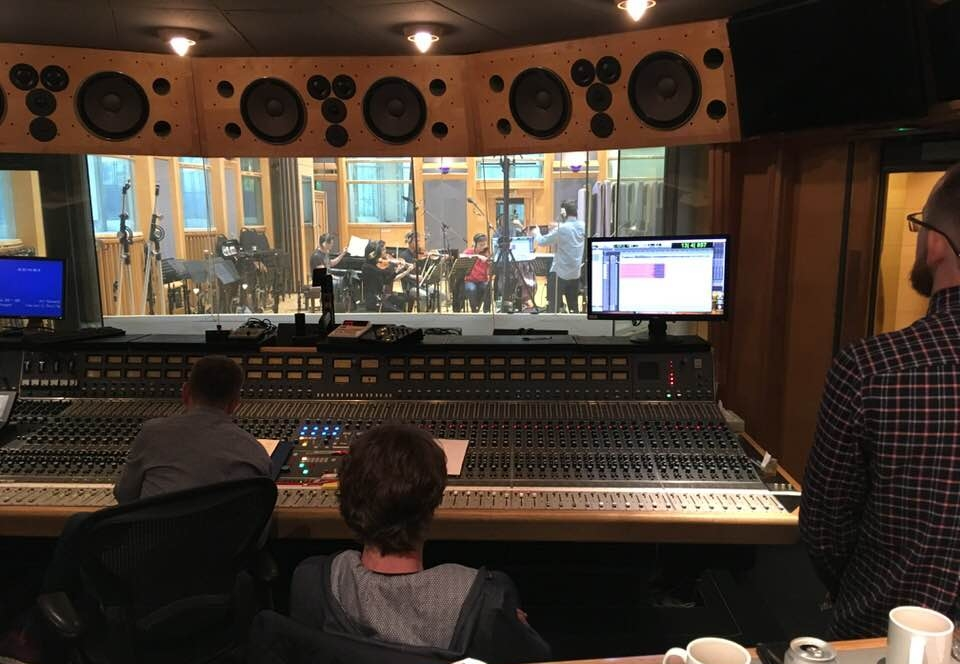 Air Lyndhurst Studio 1, in session with players of the London Contemporary Orchestra.
