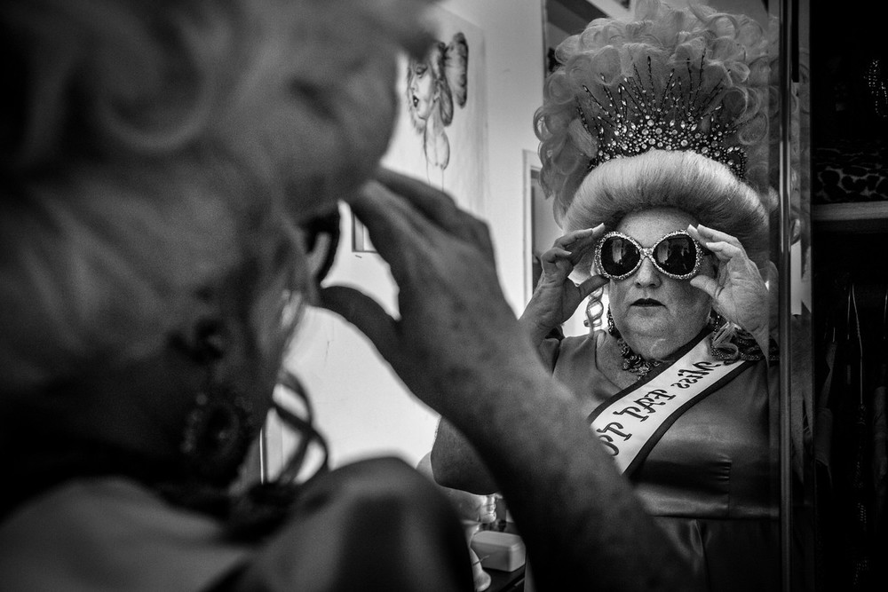 Blanche Debris squares her sunglasses before the Bourbon Street Awards