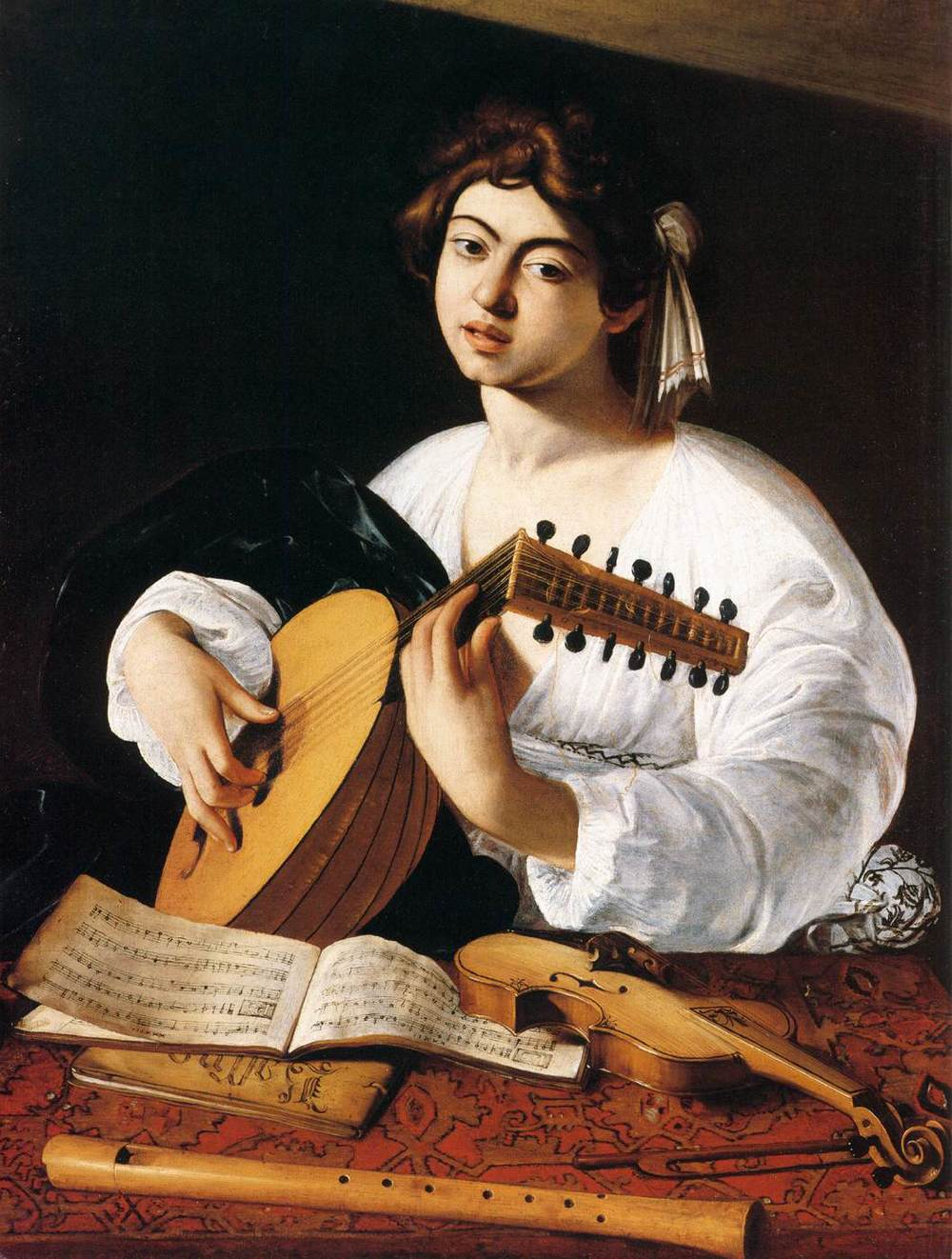 The Lute Player, Caravaggio, 1596