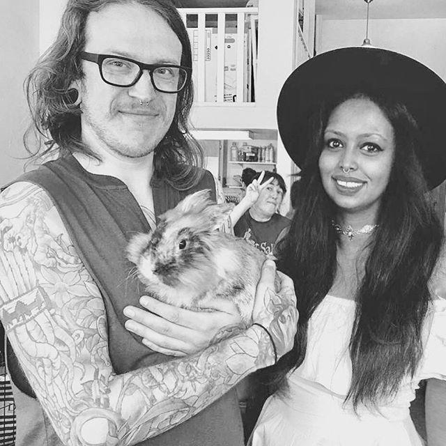 My ❤️s.. .. .. ..#rupert #chicago #love #bunny #lionhead #family #logansquare #adoptdontshop #rabbit #harlequin #happybunny #bnw #bnwphotography #blackandwhite #chigram #windycity  #adopt #foster #chicagobloggers #fedora #rabbit #bunniesofinstagram #vegan #chitown #instachicago #rogerspark #humpday #petsofinstagram #munch #crunch