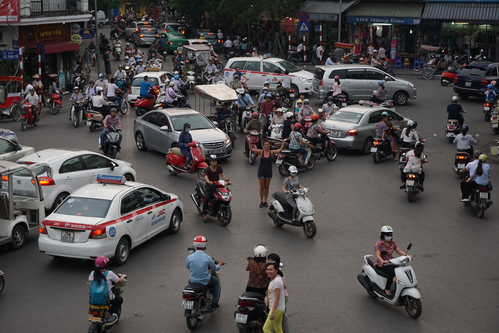 Hanoi traffic circle madness!