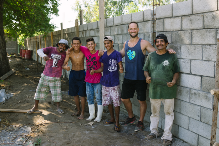 Part of the building crew in El Paredon.