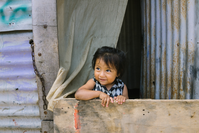 Beautiful baby living in the Guatemala City dump slums.