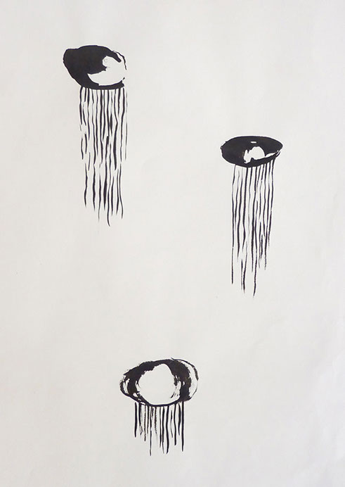 Becoming, 2011, Ink on Paper  14 x 10 in.