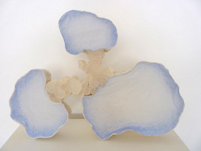 3 Cloud Blue, 2011, Paper  17 x 24 x 1 3/4 in.