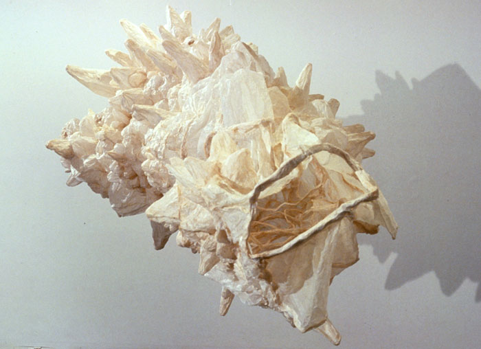 Mr. Big  (alternate view), 1999, paper, 46 x 42 x 108 in.