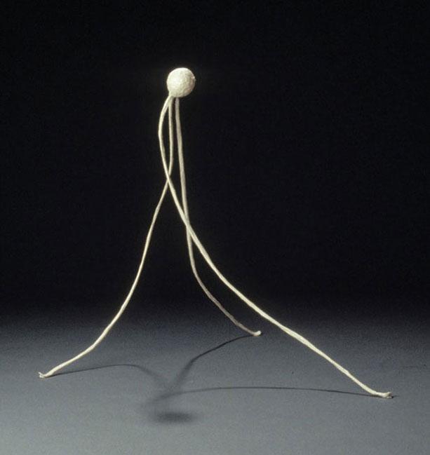 Leg Ball , 1996, paper,54 x 27 x 36 in.