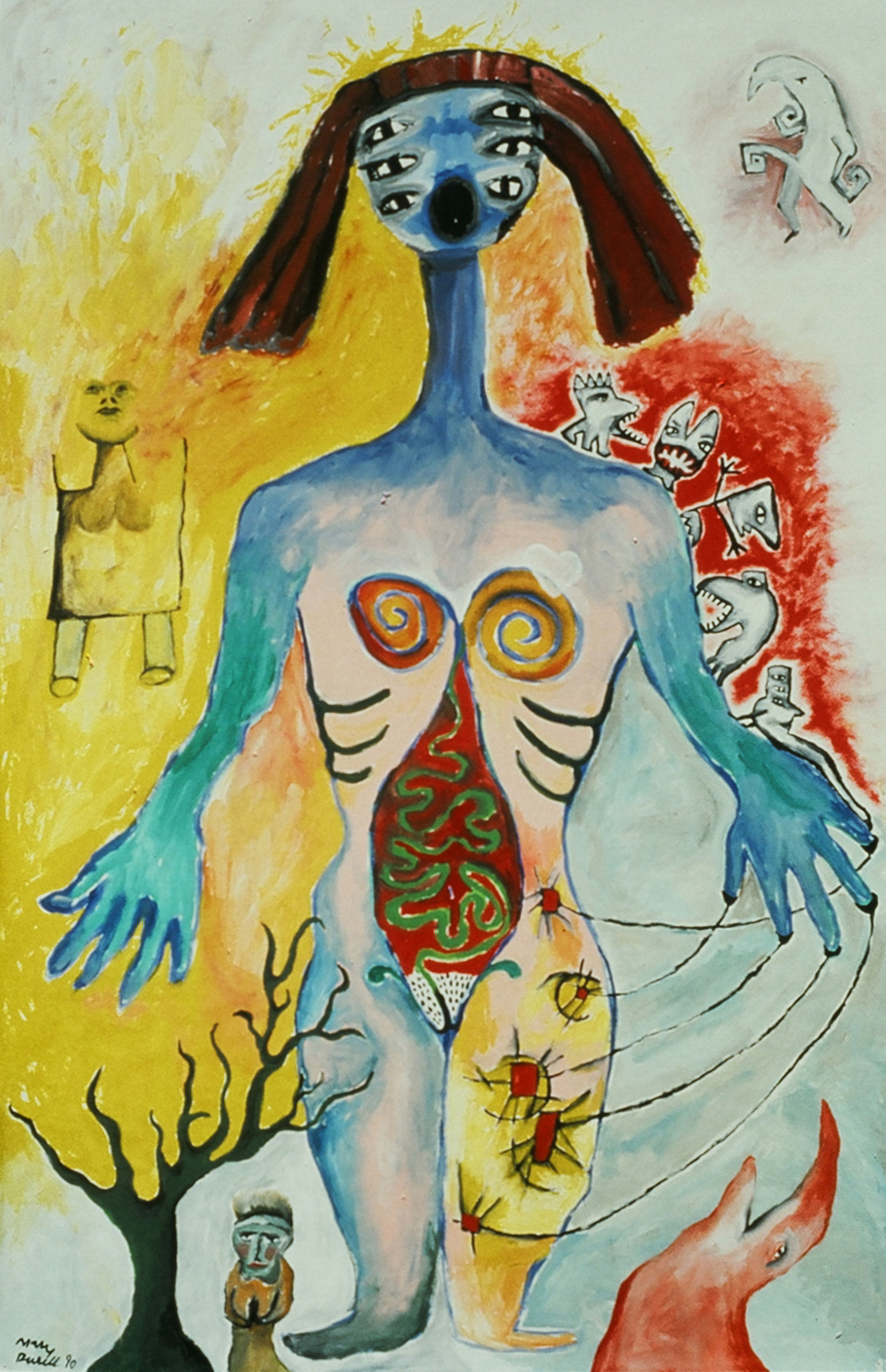 Separation , 1990, acrylic on canvas, 48 x 72 in.