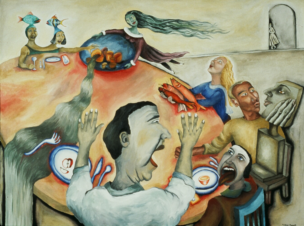 The Observer,  1990, oil on canvas, 36 x 48 in.