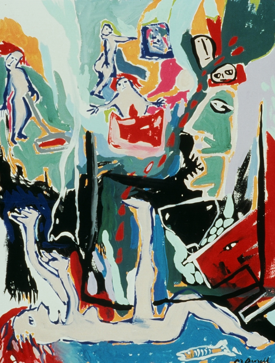 """Painting Experience 6, 1991, Tempera on Paper  20"""" x 26"""" in."""