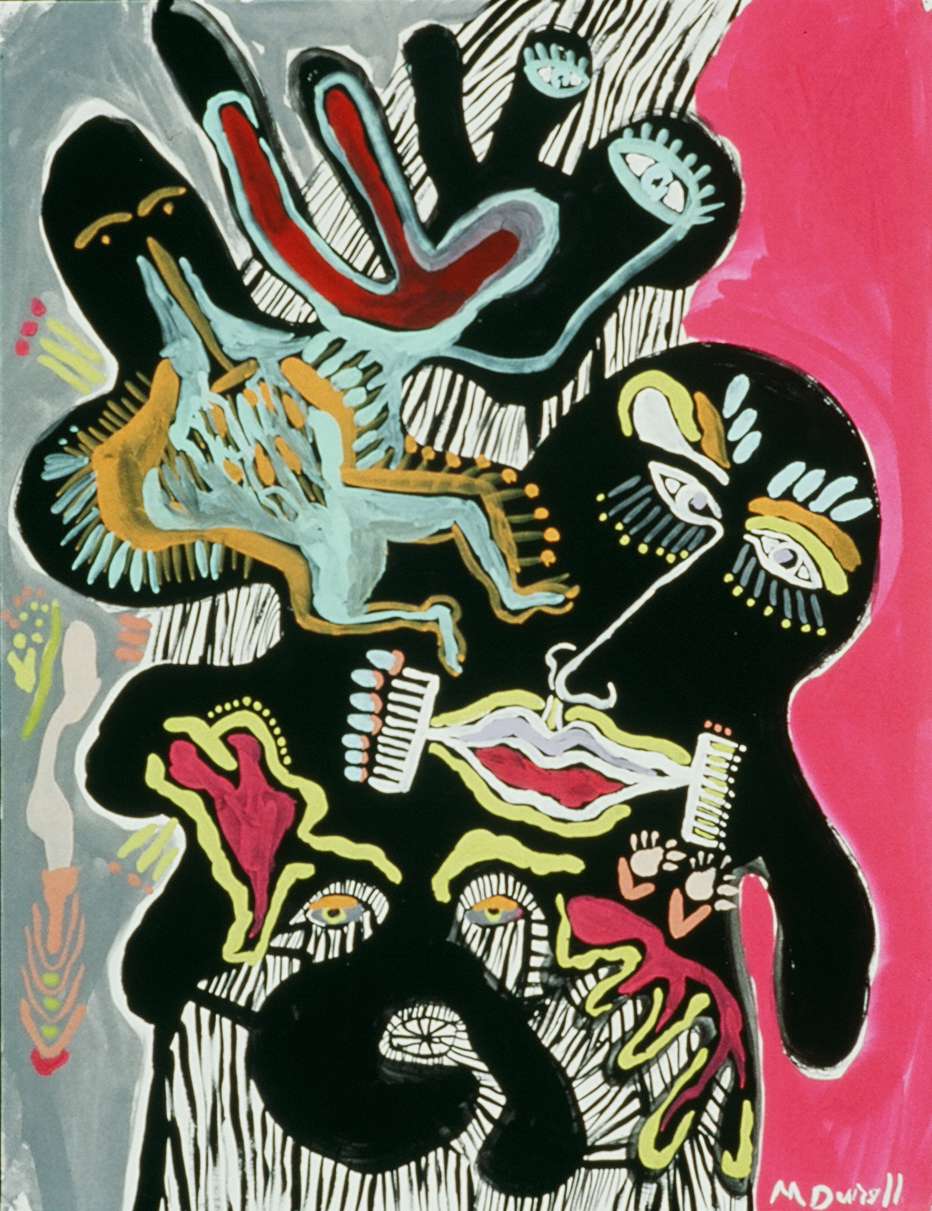 """Painting Experience 8, 1991, Tempera on Paper  20"""" x 26"""" in."""