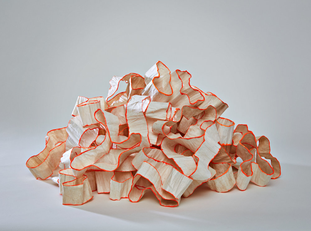 The Piles , 2011, paper, 17 x 18 x 16 in