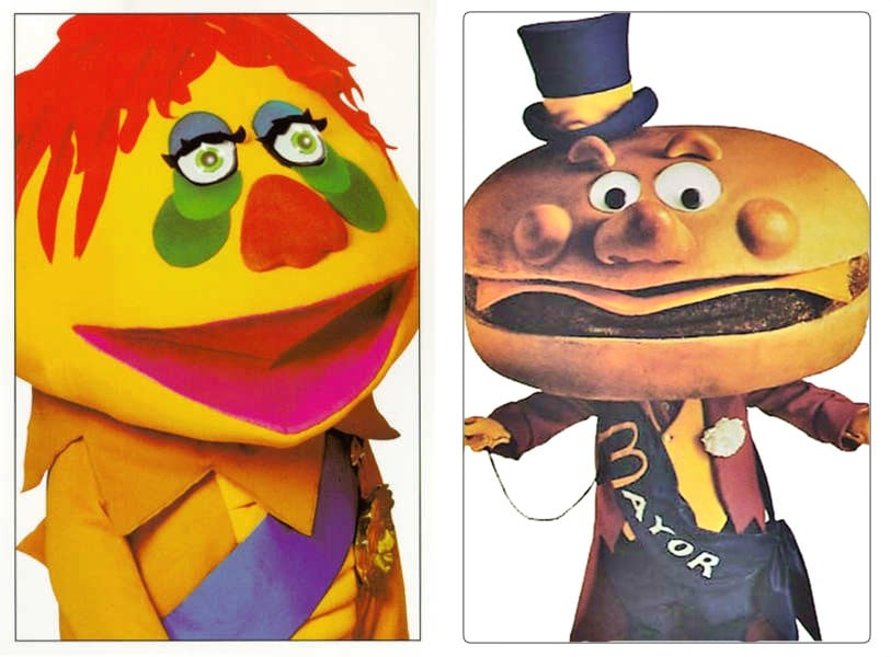 H.R. Pufnstuf and Mayor McCheese, failed results of the  Burgers From Brazil  experiment.