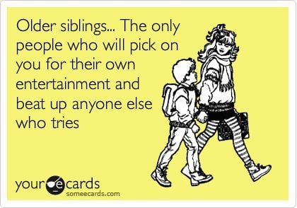 Siblings are your introduction to loyalty factions :)