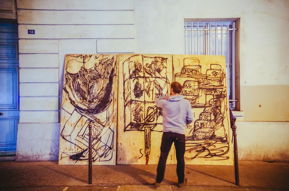 Performance Renaud Bargues Galerie Marie Robin © Rubens Ben LJA2015 (59).jpg