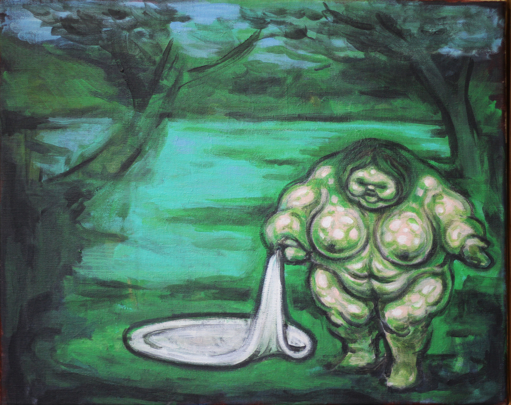 Guillaume Pinard,  Mortadella ou la grosse baigneuse  (2015). Courtesy Galerie Anne Barrault.