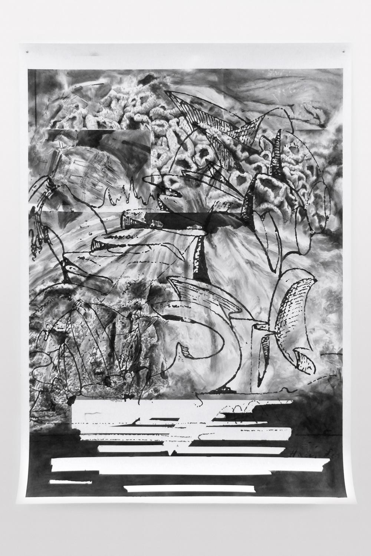 FOM #2015-12 - (2015) -Fusain sur papier 120 x 160 cm