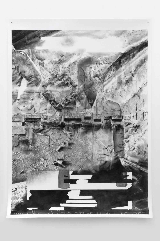 FOM #2015-11 - (2015) -Fusain sur papier -120 x 160 cm